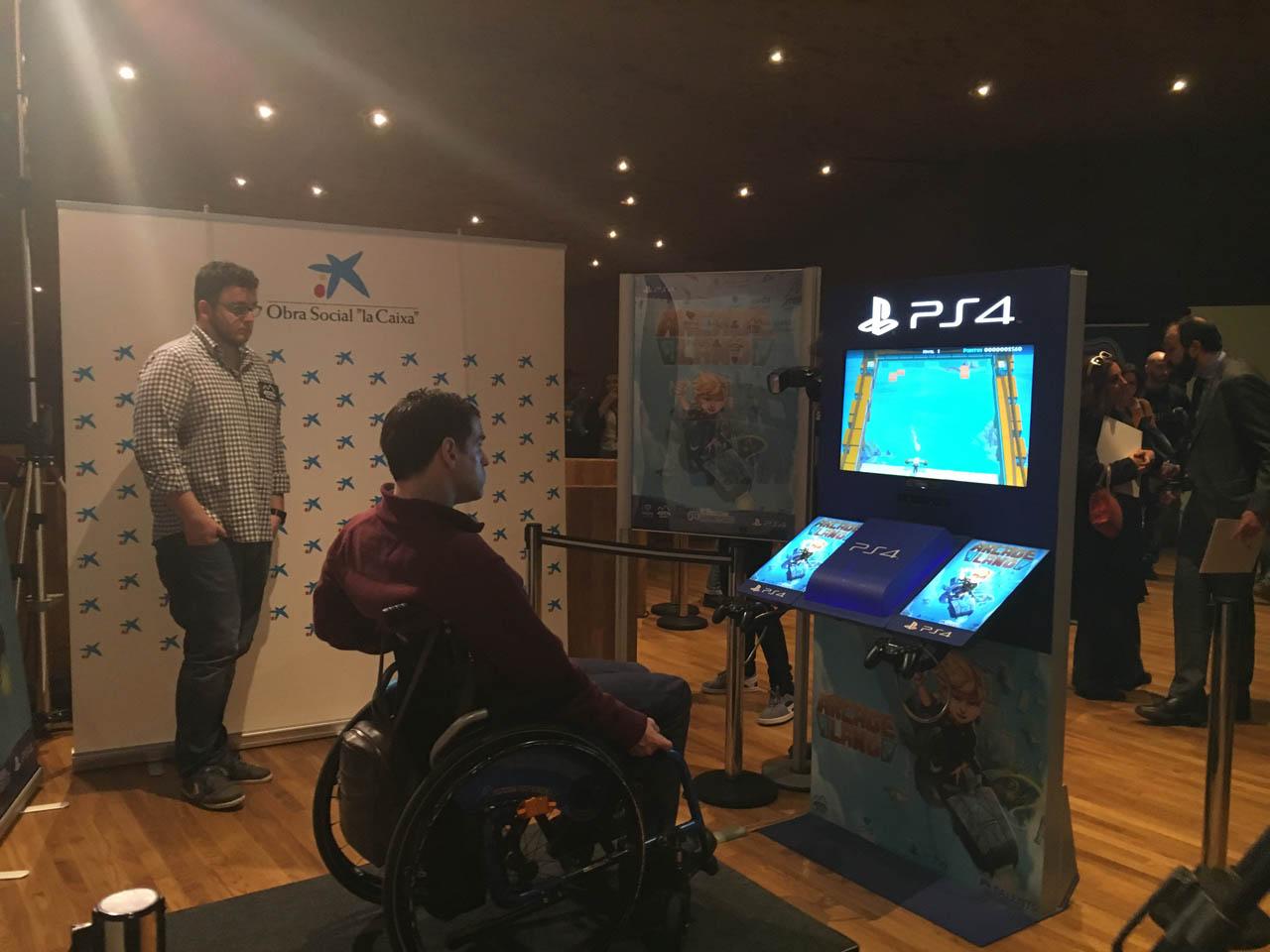 Álvaro Galán probando Arcade Land