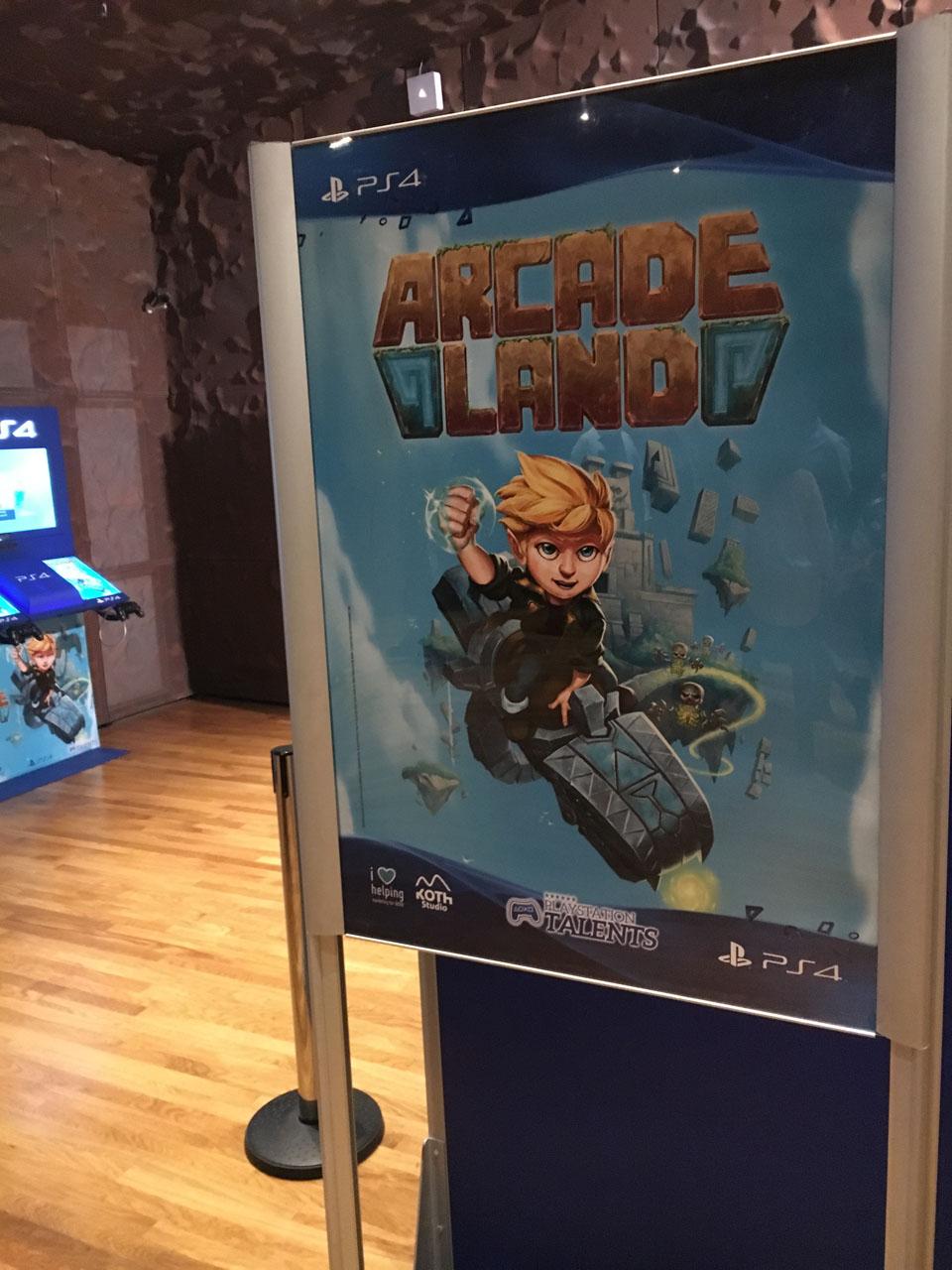 Arcade Land cartel de presentación