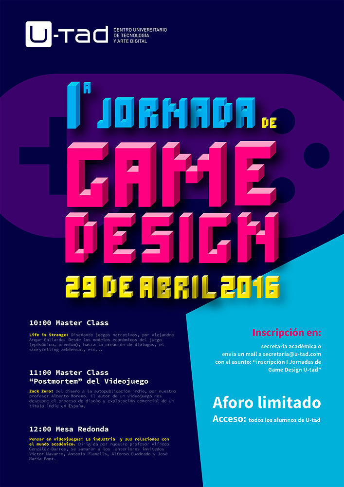Jornada Game Design U-tad - abril 2016