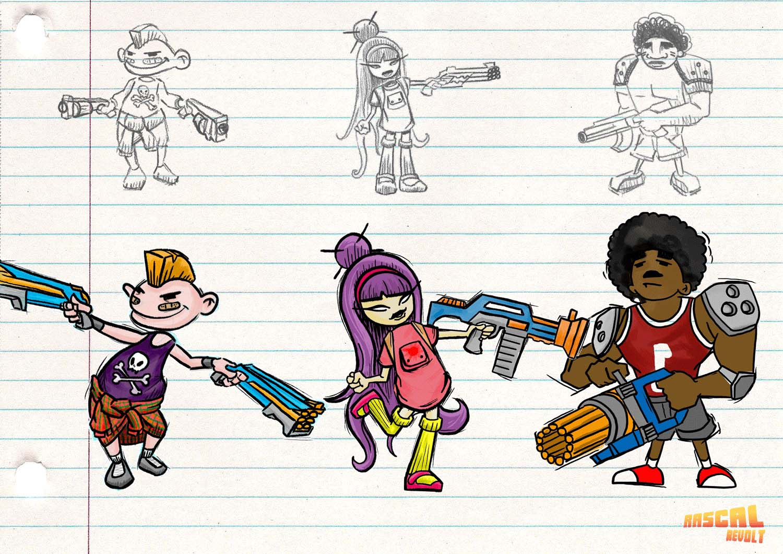 U-tad Seamantis Games 01 bocetos personajes