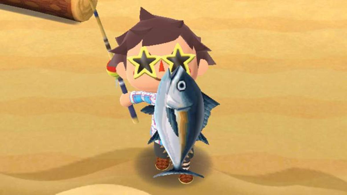 Personaje de Animal Crossing con un pes grande