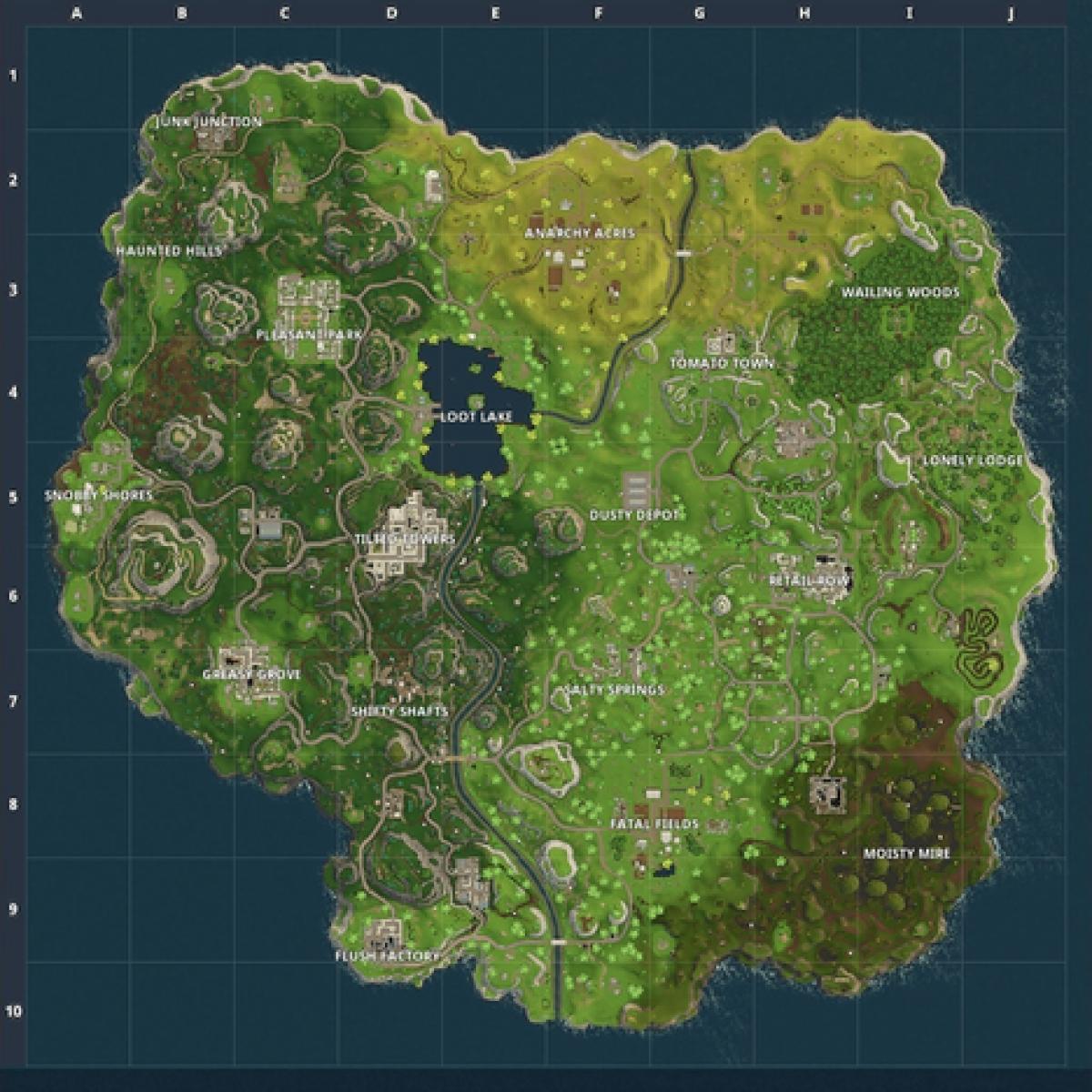 Mapa Fortnite Temporada 1.Fortnite Battle Royale Cambios Del Mapa Hasta La Temporada