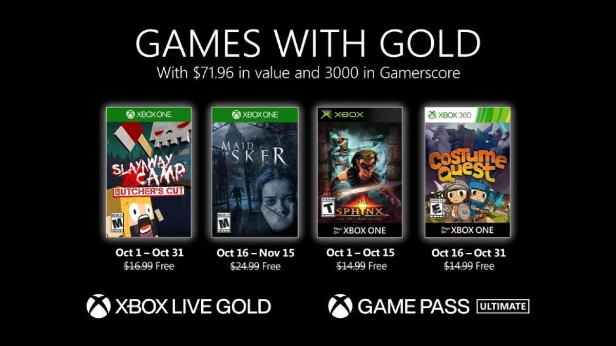 Novedades de Games with Gold para Octubre 2020