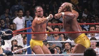 Hulk Hogan y Randy Savage en SummerSlam 1988