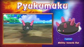 Pyukumuku Pokémon Sol y Luna