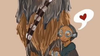 Maz y Chewbacca - Star Wars love story