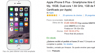 Iphone 6 Plus por 509 €