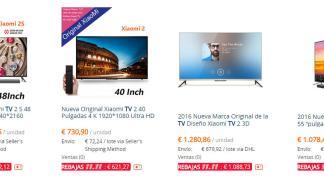 Ofertas en televisores 4K del 11 del 11 en AliExpress