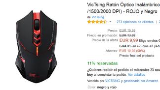 Black Friday Amazon - Ratón óptico VicTsing