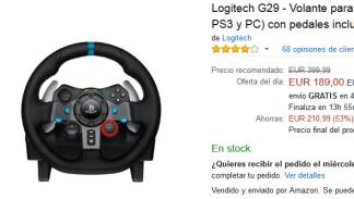 Black Friday Amazon - Volante Logitech G29