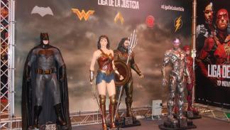 stand de La Liga de la Justicia en Heroes Comic Con Madrid