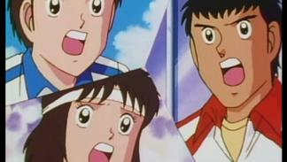 Tom Baker, Patty y Brian Shiroyama (Supercampeones)