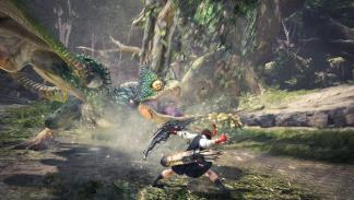 Sakura y Ryu en Monster Hunter World