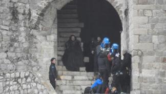 Jon Nieve y Samwell Tarly en el rodaje de la 8 temporada de Juego de tronos