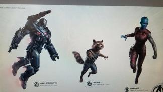 Vengadores 4 War Machine, Rocket y Nebula
