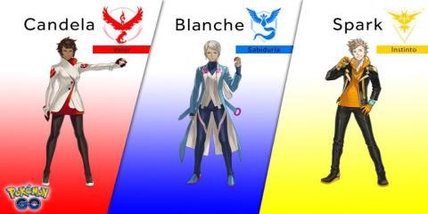 Pokémon Go líderes de equipo
