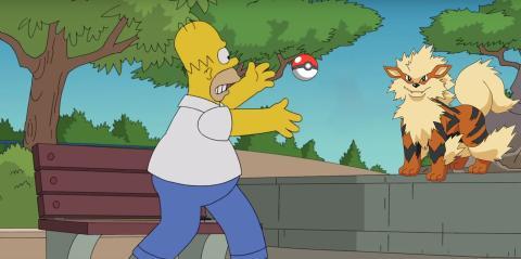 Homer capturando Arcanine