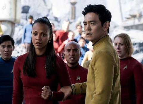 Uhura y Sulu en Star Trek: más allá