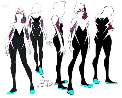 Spider-Gwen diseño