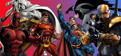 Superhéroes iguales DC Marvel