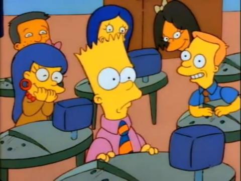 Bart en clase