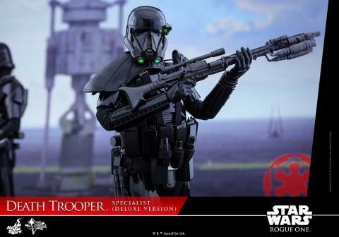 Star Wars Rogue One. Figura Death Trooper Specialist de Hot Toys versión Deluxe.