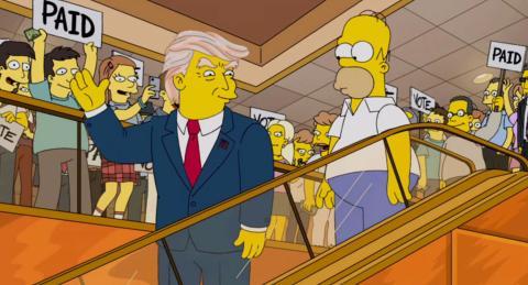 Donald Trump Simpson Predicciones