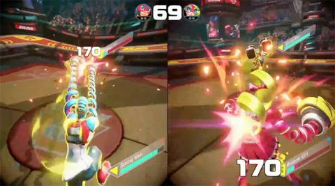ARMS combate Nintendo switch