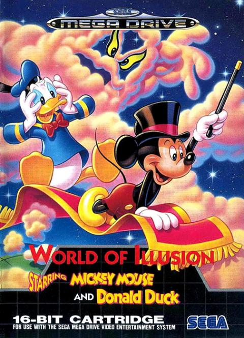 World of Illusion Starring Mickey Mouse and Donald Duck Mega Drive