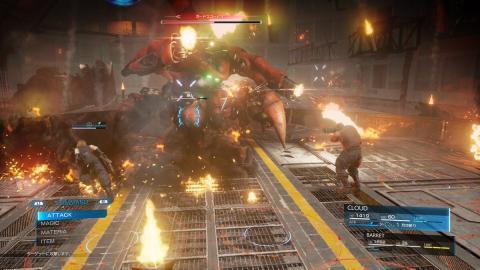 Final Fantasy VII Remake - Primer Jefe
