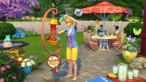 Los Sims 4 pantalla Diversión en el patio
