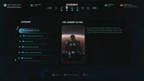 Mass Effect Andromeda - Códice