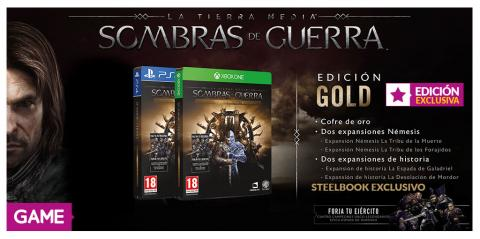 La Tierra Media Sombras de Guerra Edicion GOLD en GAME
