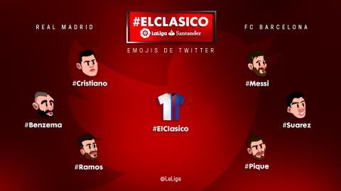 Los emojis del Barcelona vs Real Madrid