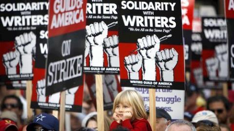 Huelga de guionistas de cine y televisión en Estados Unidos