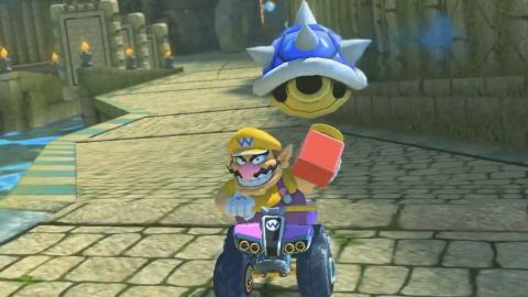 Mario Kart 8 Deluxe caparazón azul