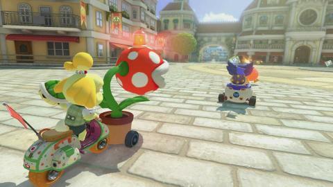 Mario Kart 8 Deluxe modo patrulla piraña