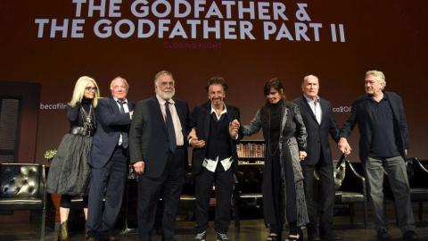 El reparto de El Padrino y El Padrino II con Francis Ford Coppola