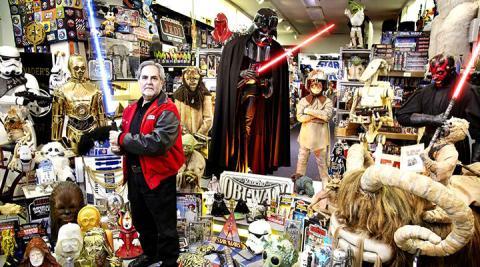 Roban más de 100 objetos de la mayor colección de Star Wars