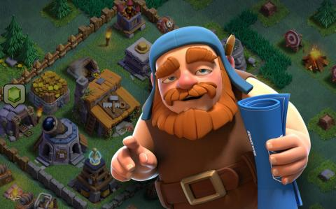 Clash of Clans base de constructores