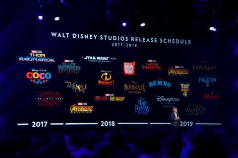 Disney anuncia su calendario de estrenos hasta 2019 en la D23