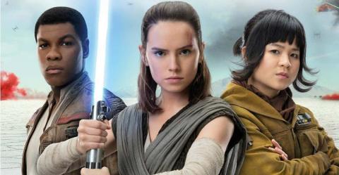 Rey, Finn y Rose Tico en la nueva imagen de Star Wars: Los últimos Jedi