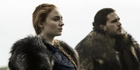 Sansa Stark y Jon Nieve