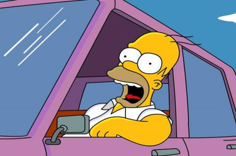 Homer driving