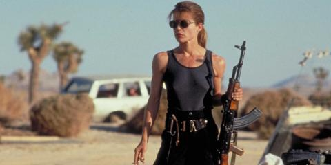 Linda Hamilton como Sarah Connor