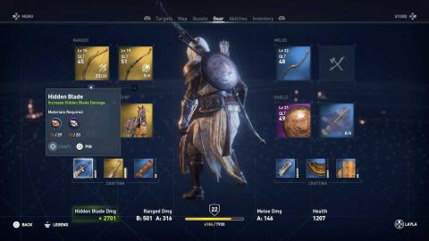 Assassins Creed Origins Guía de Armas
