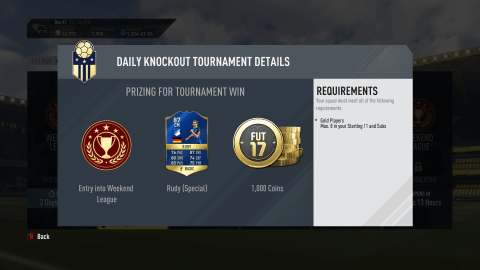 daily knockout fut champions