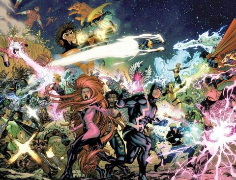 Guerra de Reyes - Inhumanos y Kree contra Sh'iar