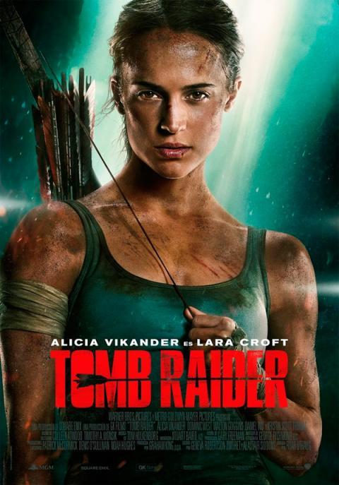 Alicia Vikander en el póster final de Tomb Raider