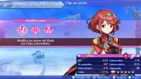 Desbloquea nuevos Blades y mejóralos en Xenoblade Chronicles 2